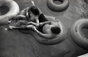 Couple In Tube Raft, Wildwood, NJ, 1991